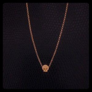 Dogeared Mini Skull Necklace
